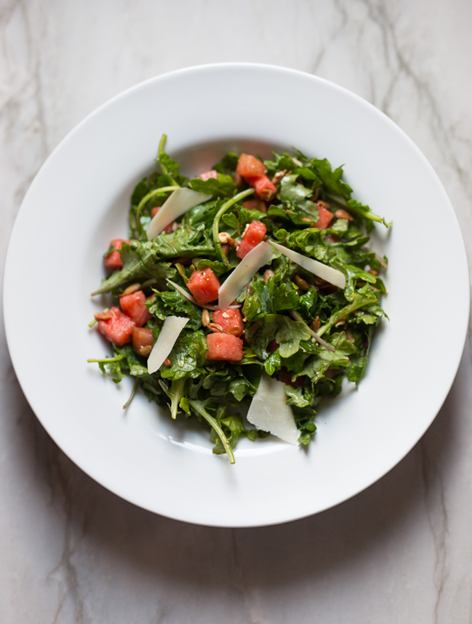 Watermelon Kale Salad Will Be Your Go-To Summer Meal