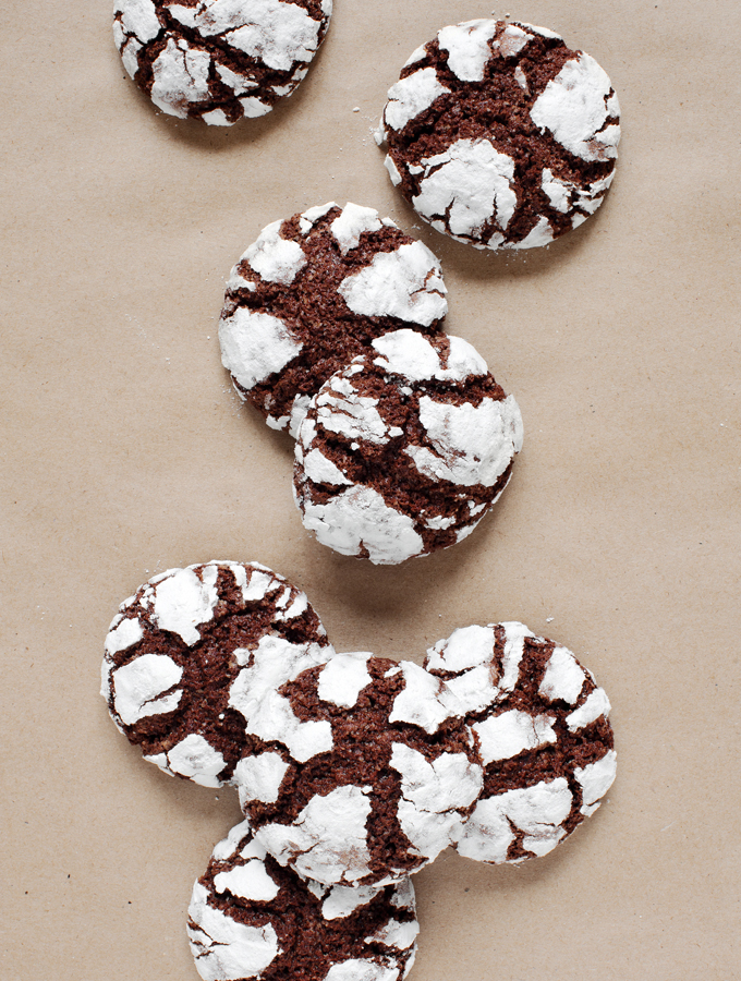Brownie Mix Crinkle Cookies
