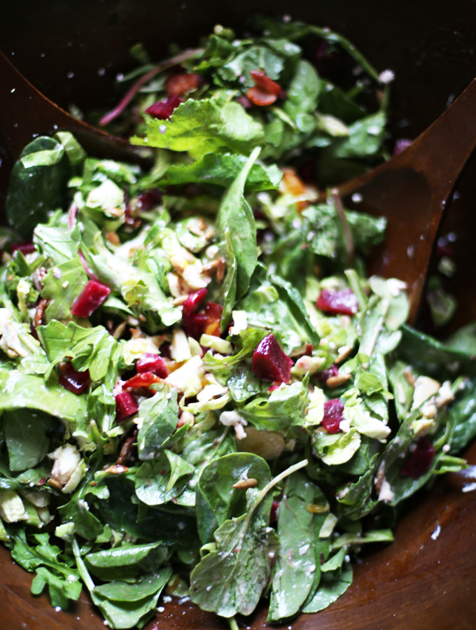 Beet & Brussels Sprout Salad with Goat Cheese